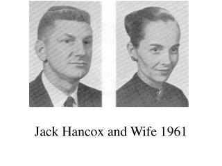 Jack Hancox and Wife 1961