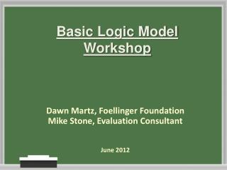 Basic Logic Model Workshop