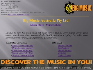 Music School Sydney-Big Music Australia