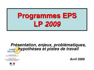 Programmes EPS  LP  2009