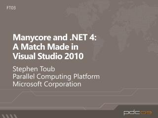 Manycore and  4: A Match Made in Visual Studio 2010