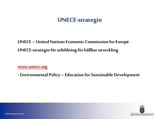 UNECE-strategin
