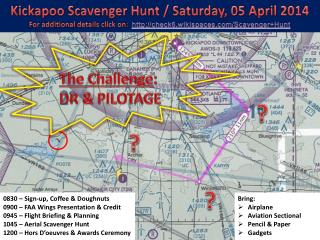 Kickapoo Scavenger Hunt / Saturday, 05 April 2014