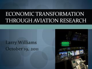 Economic Transformation through Aviation Research