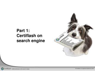 Part 1:  Certiflash on search engine