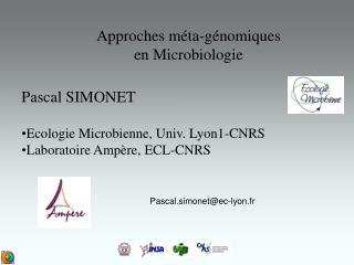 Approches méta-génomiques en Microbiologie