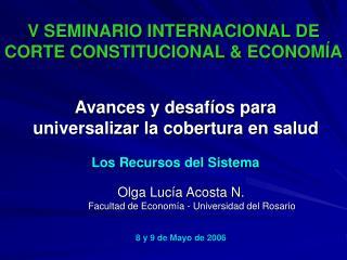 V SEMINARIO INTERNACIONAL DE CORTE CONSTITUCIONAL  ECONOM A