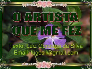 Texto: Luiz Gonzaga da Silva Email: lugosil@gmail