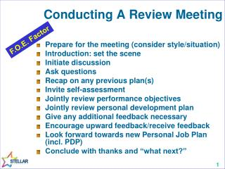 Conducting A Review Meeting
