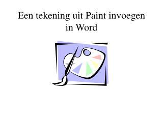 Een tekening uit Paint invoegen in Word