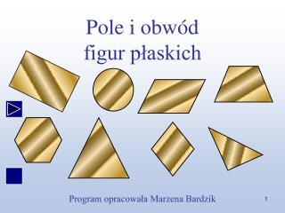 Pole i obw d figur plaskich