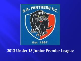 2013 Under 13 Junior Premier League