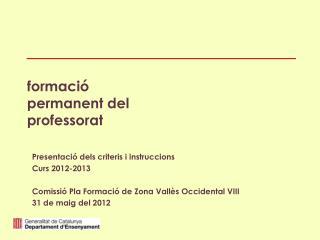formació permanent del professorat