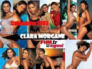Calendrier 2003         Clara morgane