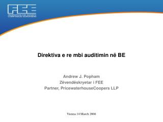 Direktiva e re mbi auditimin n  BE