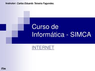 Curso de Inform�tica - SIMCA