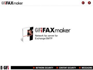 Network fax server for Exchange/SMTP