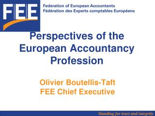 Perspectives of the European Accountancy Profession