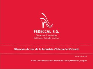 Situación Actual de la Industria Chilena del Calzado