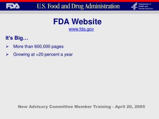 New Advisory Committee Member Training - April 20, 2005