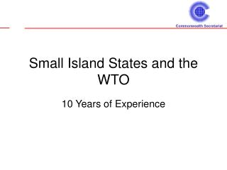 Small Island States and the WTO