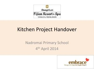 Kitchen Project Handover