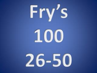 Fry's 1 00 26-50