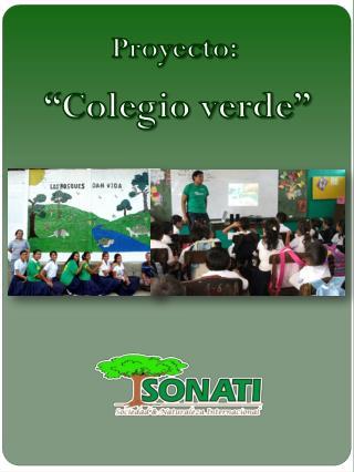 """Proyecto:  """"Colegio verde """""""