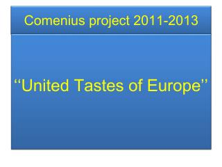 Comenius project  2011-2013