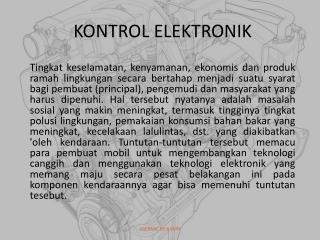 KONTROL ELEKTRONIK
