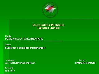 Universiteti i Prishtin s  Fakulteti Juridik