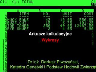 Dr inż. Dariusz Piwczyński, Katedra Genetyki i Podstaw Hodowli Zwierząt