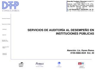 Introducción. Servicios de Auditoría al Desempeño en Instituciones Públicas.