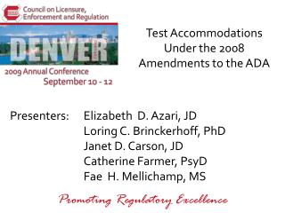 Test Accommodations Under the 2008 Amendments to the ADA