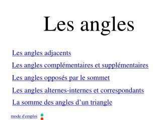 Les angles