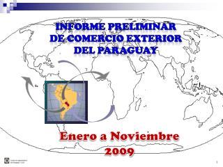Informe Preliminar  De Comercio Exterior  del Paraguay