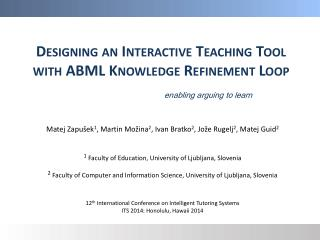 Designing an Interactive Teaching  Tool with  ABML Knowledge Refinement Loop