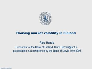 Housing market volatility in Finland