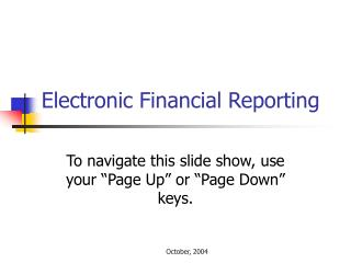 Electronic Financial Reporting