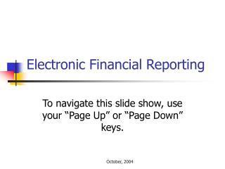 Electronic Financial Reporting