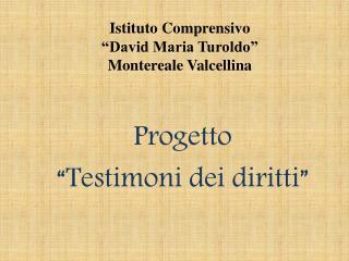 """Istituto Comprensivo  """"David Maria Turoldo"""" Montereale Valcellina"""