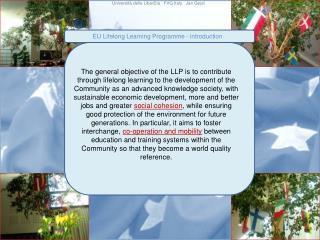 EU  Lifelong Learning Programme  -  introduction