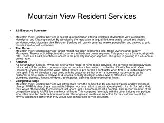 Mountain View Resident Services