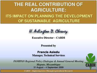 Executive Director – CARDI