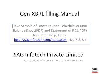 Gen-XBRL filling Manual