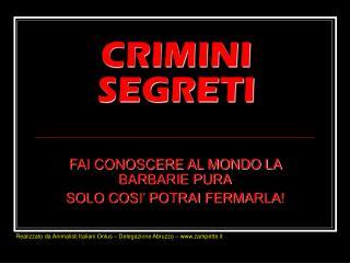 CRIMINI SEGRETI