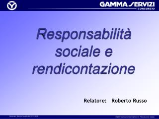 Responsabilità sociale e rendicontazione