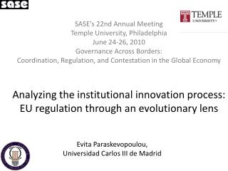 Evita Paraskevopoulou , Universidad Carlos III de Madrid