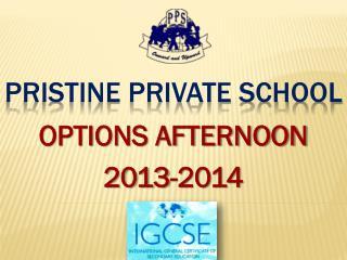 PRISTINE PRIVATE SCHOOL