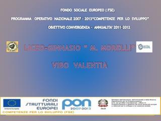 FONDO  SOCIALE  EUROPEO ( FSE)